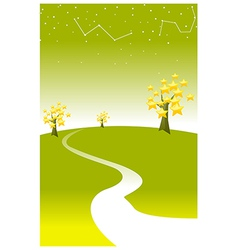 Astrology sign in sky vector