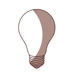Light bulb isolated icon vector