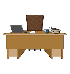 Boss table business office leader supervisor vector