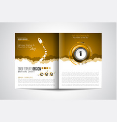 Startup landing webpage or corporate design vector