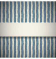 Blue retro pattern with stripes vector