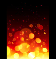 Bright bokeh effect fire abstract background vector image