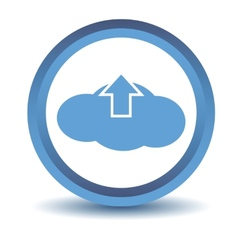 Blue upload cloud icon vector