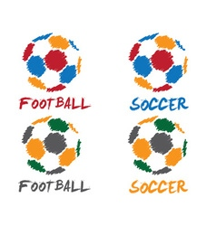 Football and soccer vector