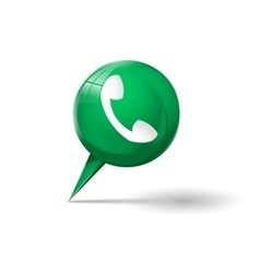Green phone icon vector