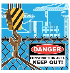 Construction area worning vector