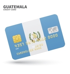 Credit card with guatemala flag background for vector