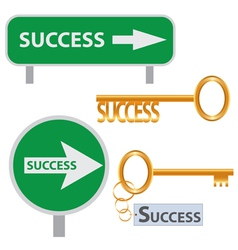 Set of success concept arts vector