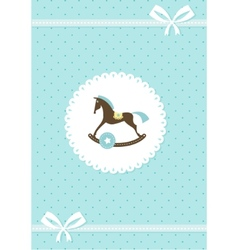 baby greeting card - boy vector image