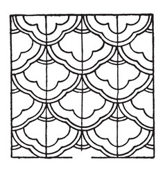 Chinese enamel pattern is a design that uses vector