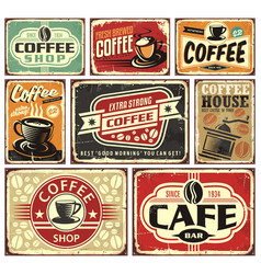 coffee signs and labels collection vector image vector image