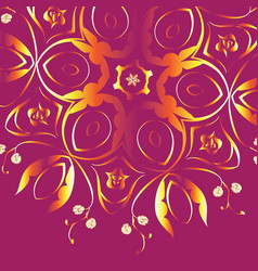 Colorful floral ornament vector