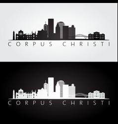 corpus christi usa skyline and landmarks vector image vector image