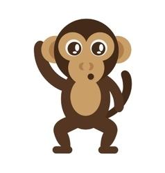 cute monkey cartoon icon vector image