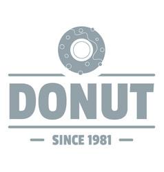 Donut logo simple gray style vector