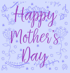Doodle mother day style art vector