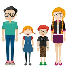 Family members with parents and children vector image