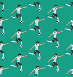 Football player pattern vector