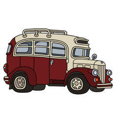 funny old bus vector image