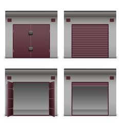 Garage icons vector
