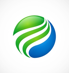 Globe sphere swirl finance logo vector
