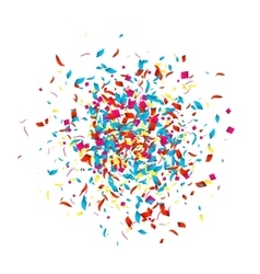 Holiday Confetti background for holidays party vector image vector image
