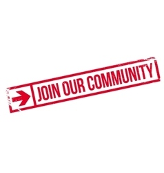 Join our community stamp vector