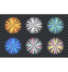 Light effect circle spotlight with transparent vector