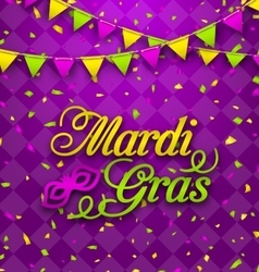 Mardi Gras Lettering Background Invitation for vector image vector image