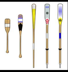 oars vector image