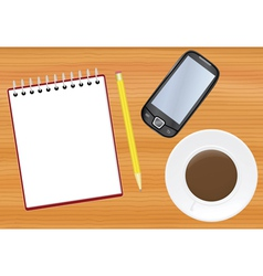 office table vector image vector image