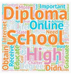 Online High School Diplomas text background vector image vector image
