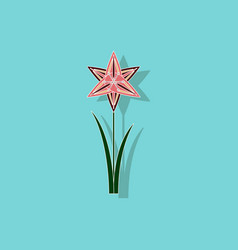 Paper sticker on background of flower narcissus vector