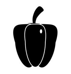 Pepper vegetable food fresh pictogram vector