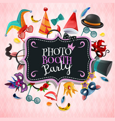 Photo booth party background vector