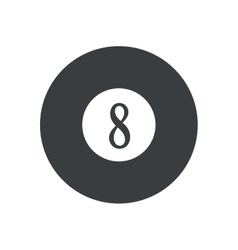 pictogram billard eight ball game vector image