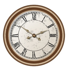 retro clock vector image