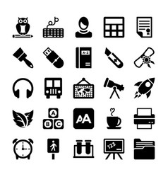 School and education icons 7 vector