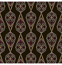 Seamless antique deco lace pattern ornament vector image vector image