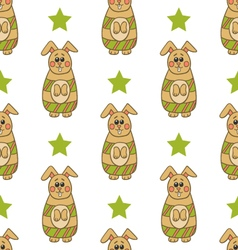 Seamless pattern with Easter bunny-2 vector image vector image