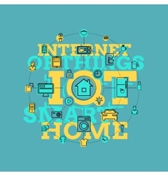 Smart Home And Internet Of Things Line Art vector image