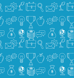 Success business set icons vector