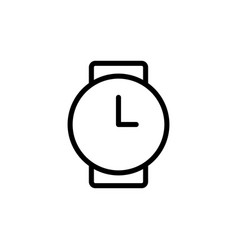 thin line clock wrist watch icon vector image