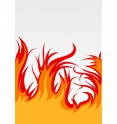 vector background with fire vector image vector image
