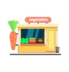 Vegetables Shop Front vector image vector image