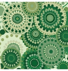 Vintage circular retro ornament natural vector