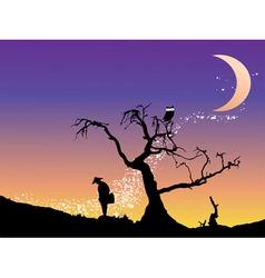 Sunrise background vector image