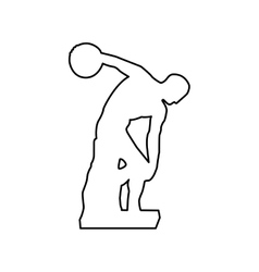 Discus thrower or discobolus sculpture icon image vector