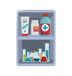 First aid kit medical equipment vector