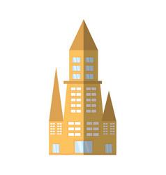 building architecture urban shadow vector image